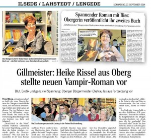 Pressebericht, Lesung Gillmeister vom 27.9.14